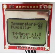Термометр + гигрометр на базе DCCduino Nano с графическим дисплеем
