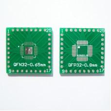 Плата-переходник QFP32-0.8mm / QFN32-0.65mm to DIP Adapter