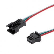 Комплект JST коннекторов  папа+мама с проводами 3pin
