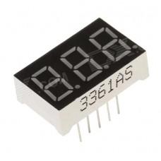 Семисегментный индикатор тройной 3361AS 0.36' красный