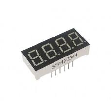 Семисегментный индикатор на четыре цифры SMA420364 0.36' красный