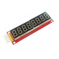 Дисплей из восьми семисегментных индикаторов на чипе MAX7219
