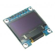 """OLED SPI графический дисплей двухцветный 0.96"""" 128x64"""