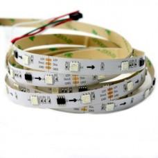 Светодиодная лента с адресацией WS2811 RGB (30 LED / 1метр) 12В