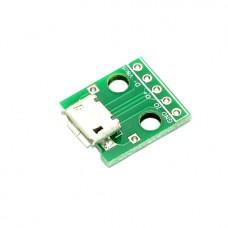 Плата-переходник Micro USB в DIP5 2.54mm