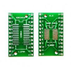 Плата-переходник SOP24 / SSOP24 to DIP24 Adapter
