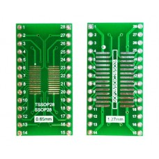 Плата-переходник SOP28 / SOIC28 / S028 / SSOP28 / TSSOP28 to DIP28 Adapter