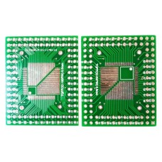 Плата-переходник TQFP(32-64PIN) 0.8mm / TQFP(32-100PIN) 0.5mm to DIP Adapter