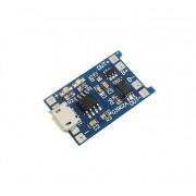 Контроллер заряда Li-Ion аккумуляторов TP4056 micro USB с защитой