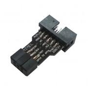 USBASP AVR 10 pin to 6 pin ISP AVR переходник