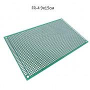 Двухсторонняя макетная плата FR-4 90x150 мм