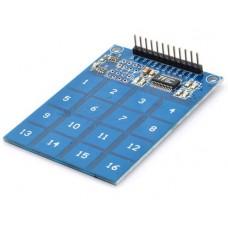 Сенсорная емкостная клавиатура 4x4 (16 клавиш) на чипе TTP229