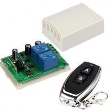 Двухканальное 12В радиоуправляемое реле 433 MHz с пультом