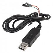 USB-UART конвертер PL2303HX USB-TTL в корпусе с кабелем